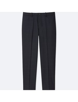 Men Ezy Ankle Length Pants (Windowpane) by Uniqlo