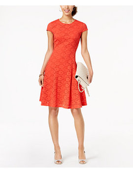 Petite Lace Fit & Flare Dress, Created For Macy's by Alfani