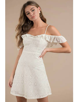 Astr Kristin Cream Cold Shoulder Dress by Tobi