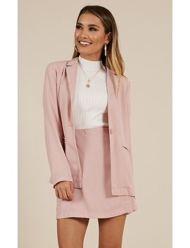 How About Now Blazer In Blush by Showpo Fashion