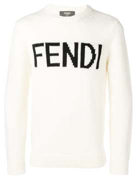 Logo Patch Sweater by Fendi