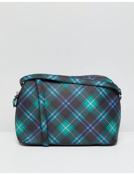 Bershka Tartan Across Body Bag by Bershka