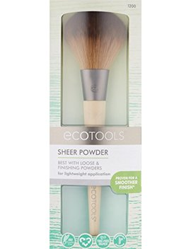 Eco Tools Large Powder Brush, Made With Recycled And Sustainable Materials, Cruelty Free Synthetic Taklon Bristles, Aluminum Ferrule, Recycled Packaging by Eco Tools