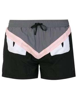 Color Block Swim Shorts by Fendi