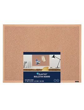 Quartet Cork Bulletin Board, 17 X 23 Inches, Oak Finish Frame (35 380342 Q) by Quartet