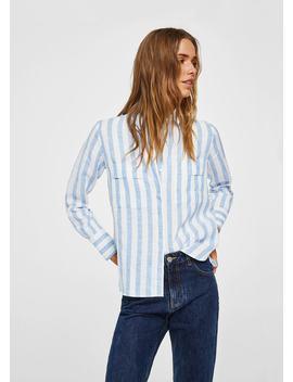 Lněná Košile S Kapsami by Mango