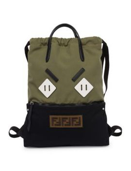 Angry Eyes Backpack Tote by Fendi