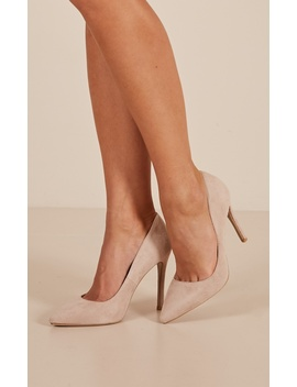 Billini   Faye Heels In Nude Micro by Showpo Fashion
