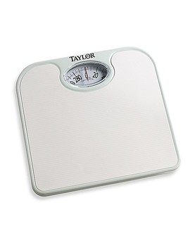 Metro Ez Read Dial Bathroom Scale In White by Bed Bath And Beyond