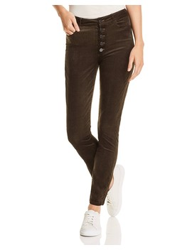 Hoxton Ankle Skinny Corduroy Velvet Jeans In Midnight Forest   100 Percents Exclusive by Paige