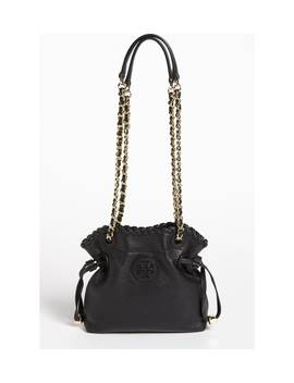 'small Marion' Leather Pouchette by Tory Burch