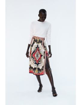 Printed Pleated Skirt  Chainswoman by Zara