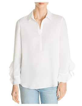 Deanna Ruffle Sleeve Blouse   100 Percents Exclusive by Le Gali