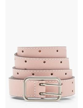 Pin Buckle Boyfriend Belt by Boohoo