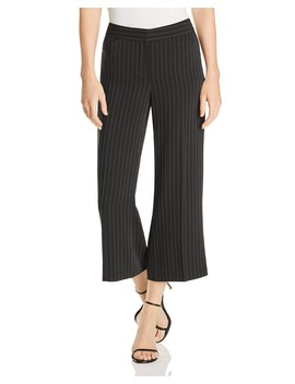 Savanah Pinstriped Crop Flare Pants   100 Percents Exclusive by Le Gali