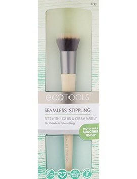 Eco Tools Cruelty Free And Eco Friendly Stippling Brush, Made With Recycled And Sustainable Materials And Custom Cut Bristles For Extra Comfort by Eco Tools