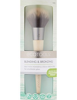 Ecotools Blending And Bronzing Brush, Plush Duo Fiber Soft Bristles Make Achieving A Sun Kissed Bronze Look Effortless 0.15 Ounce by Eco Tools