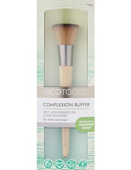 Eco Tools Custom Coverage Buffing Brush, 1.85 Ounce; Soft, Custom Cut Bristles, Recycled Aluminum Ferrules; For Use With Cream Or Powder Foundation, Blush, And Bronzer by Eco Tools