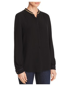 Metallic Trim Blouse   100 Percents Exclusive by Zadig & Voltaire X Aqua