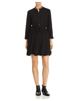 Metallic Trim Shirt Dress   100 Percents Exclusive by Zadig & Voltaire X Aqua