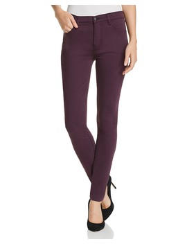 Maria High Rise Skinny Jeans In Aubergine   100 Percents Exclusive by J Brand
