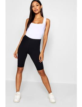 Cotton Elastane Cycling Short by Boohoo