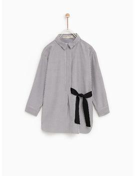 Shirt With Bow  New Ingirl by Zara
