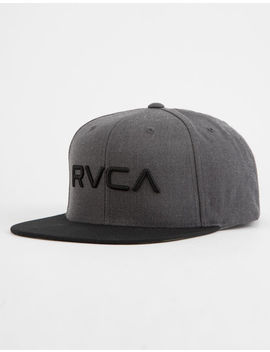 Rvca Twill Ii Charcoal Mens Snapback Hat by Rvca