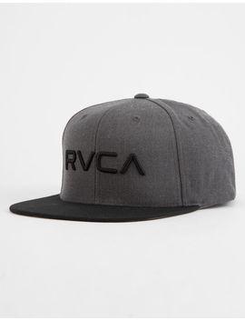 Rvca Twill Ii Charcoal Mens Snapback Hat by Rvca