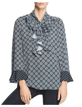 Dakota Mixed Print Blouse   100 Percents Exclusive by Le Gali