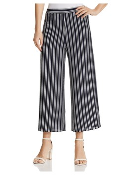 Striped Cropped Wide Leg Pants   100 Percents Exclusive  by Aqua