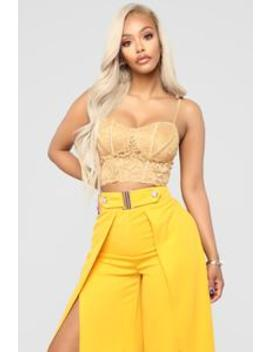 Love Me Maybe Bralette   Mustard by Fashion Nova