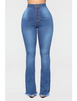 Get Your Groovy High Rise Jeans   Medium Blue Wash by Fashion Nova