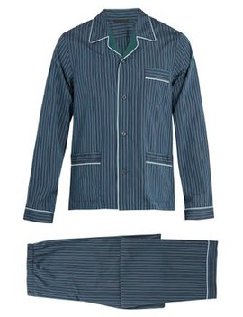 Striped Cotton Pyjama Set by Prada