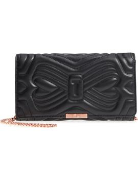 Ciliaa Quilted Bow Leather Clutch by Ted Baker London
