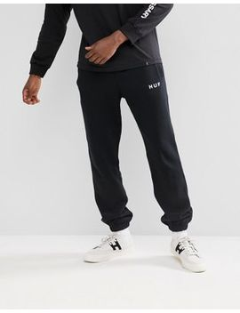 Huf Original Logo Joggers In Black by Huf