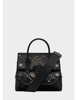 Crystal Stud Palazzo Empire Bag by Versace