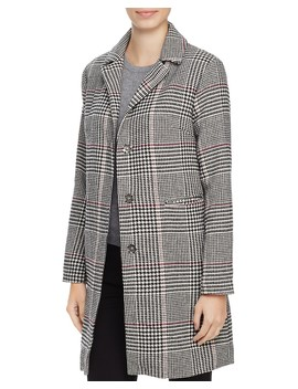 Houndstooth Check Coat   100 Percents Exclusive by Louise Paris