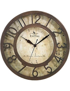 Firs Time® Brown Crackle Wall Clock In Oil Rubbed Bronze by Bed Bath And Beyond