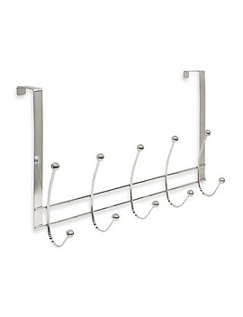 Home Basics® Over The Door 5 Hook Flat Wire Hanger In Chrome by Bed Bath And Beyond