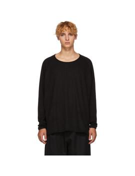 Black 1/1 Rib Sweater by Jan Jan Van Essche