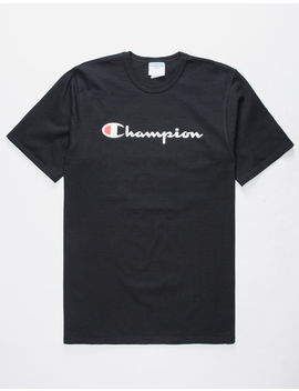 Champion Heritage Black Mens T Shirt by Champion