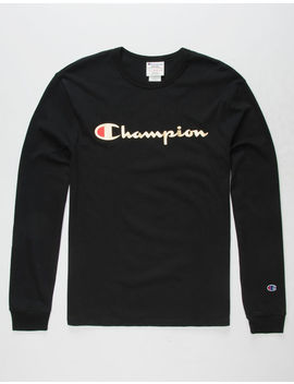 Champion Script Foil Black Mens T Shirt by Champion