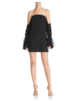 Right Kind Of Madness Off The Shoulder Mini Dress by C/Meo Collective