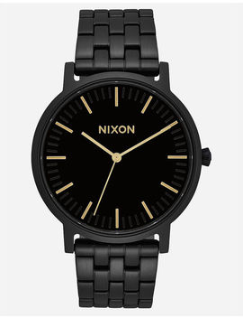 Nixon Porter Black & Gold Watch by Nixon