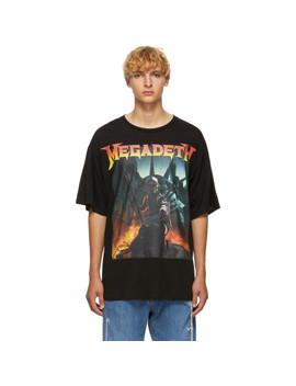 Black Megadeth Fatalbot T Shirt by R13