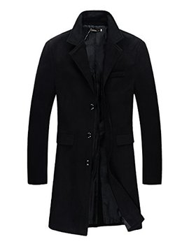 Benibos Mens Trench Coat Autumn Winter Long Jacket Overcoat by Benibos