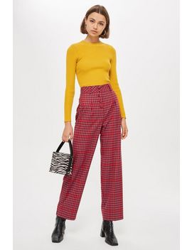 Check Slouch Trousers by Topshop