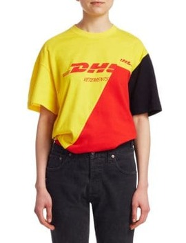Dhl Cut Up Tee by Vetements
