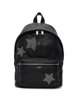 Black Star Studded Mini City Backpack by Saint Laurent